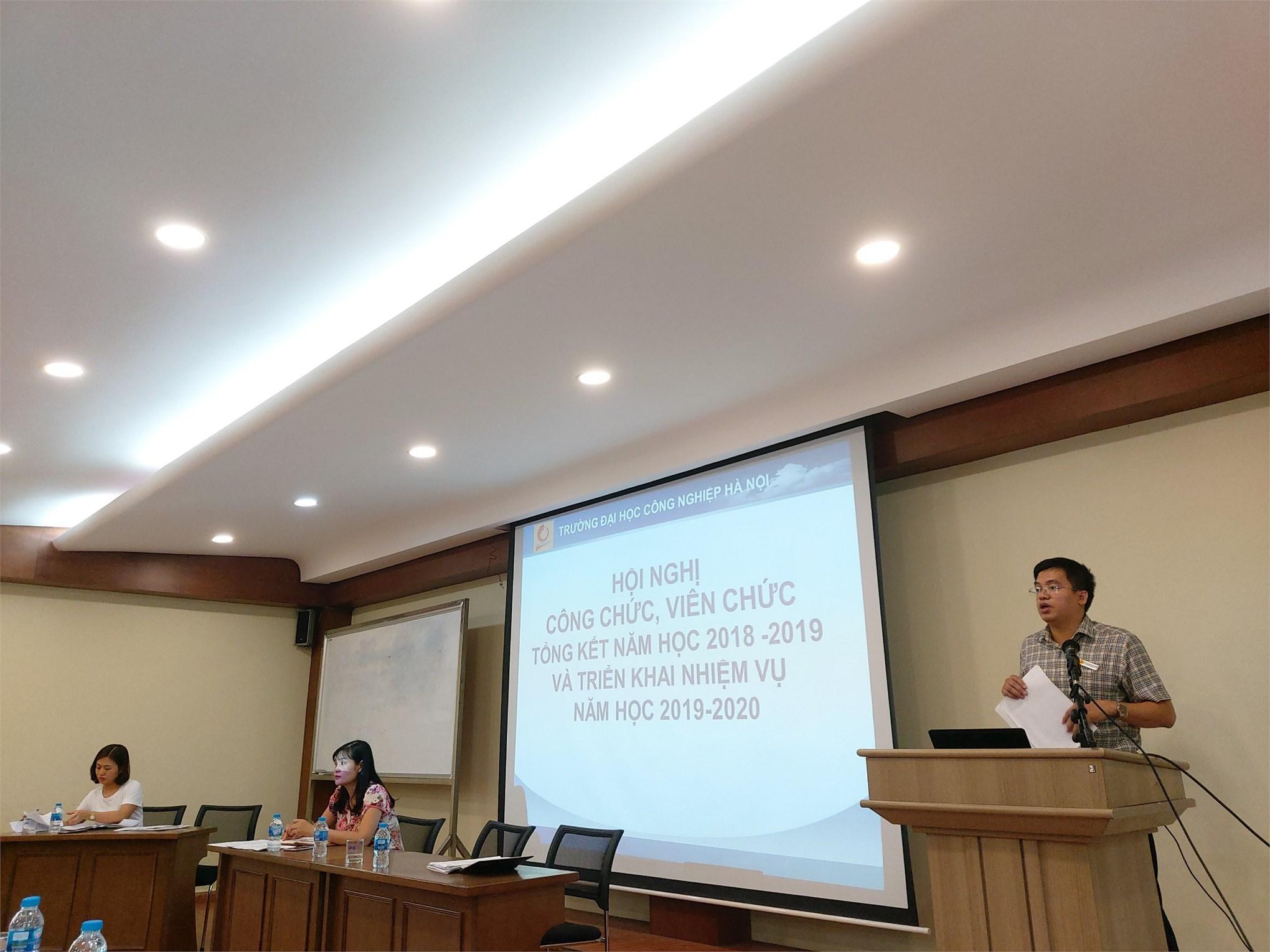 Hội nghị cán bộ viên chức khoa Kế toán Kiểm toán năm học 2019-2020