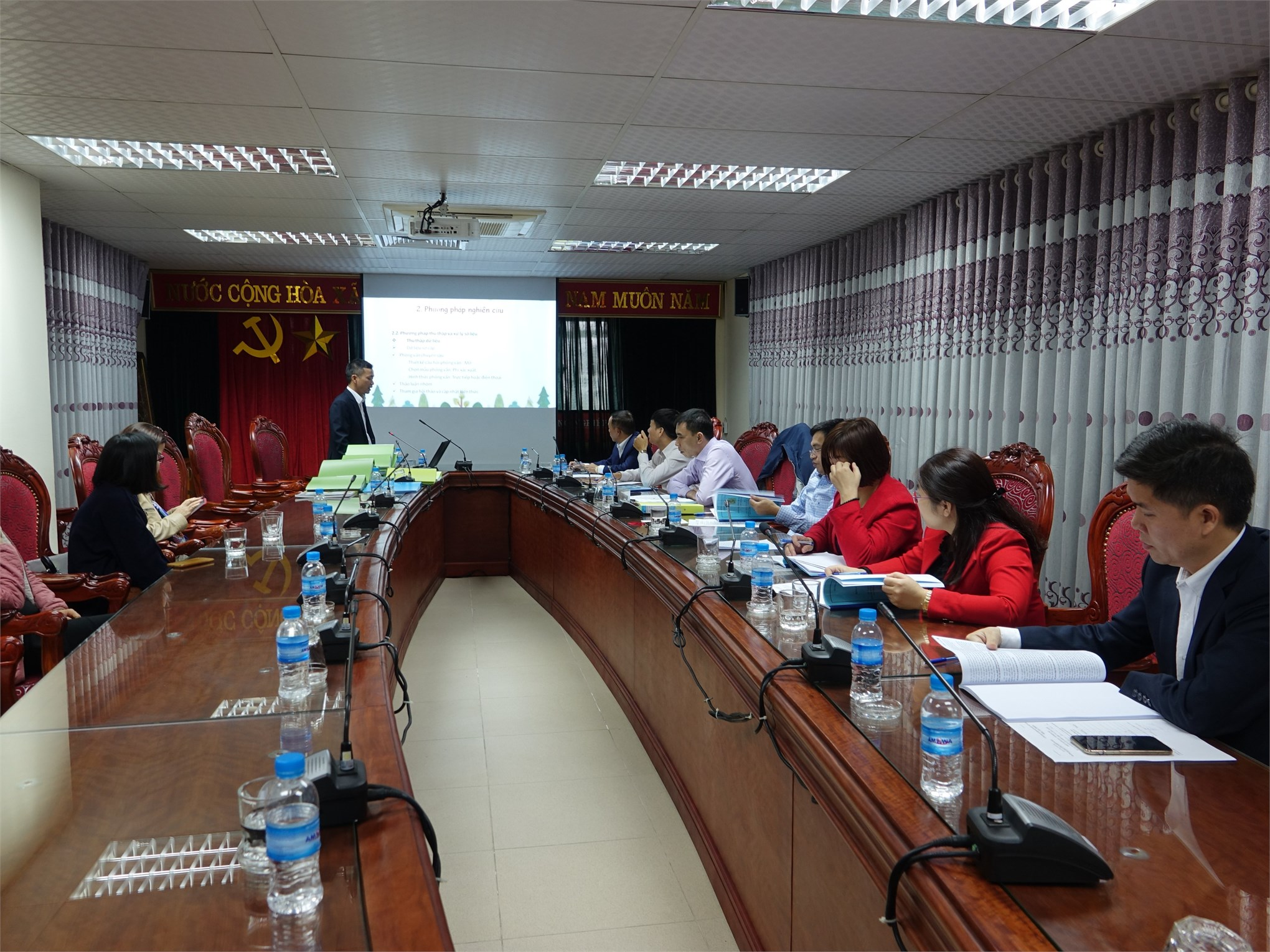 """Bảo vệ đề án """"Xây dựng cơ sở dữ liệu kiểm toán báo cáo tài chính phục vụ thực tập tốt nghiệp cho sinh viên ngành kiểm toán của Đại học Công nghiệp Hà Nội"""" của TS Giáp Đăng Kha"""