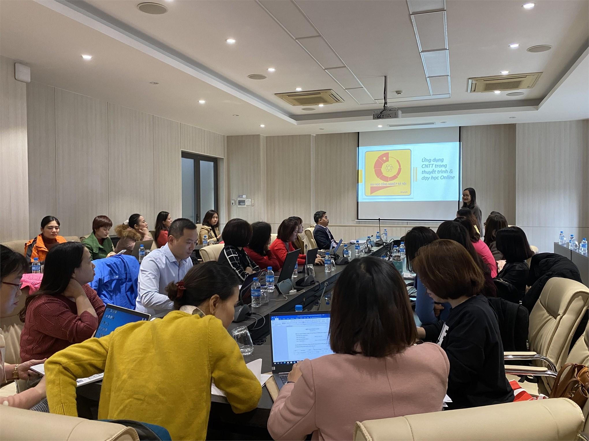 Hội thảo `Ứng dụng IT trong thuyết trình và dạy học online`
