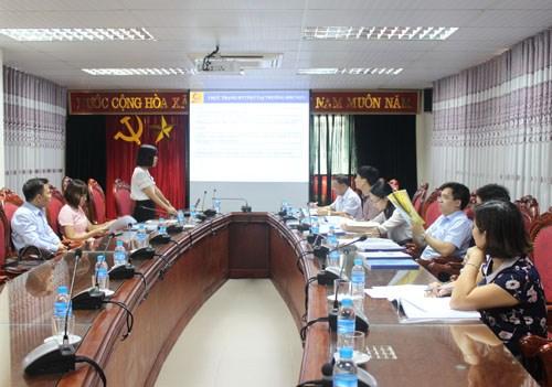 Nghiệm thu đề tài NCKH cấp trường của TS. Nguyễn Thị Thu Thủy