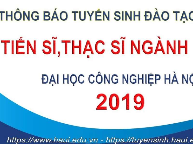 Thông báo tuyển sinh sau đại học năm 2019