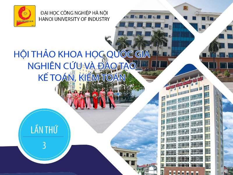 Thông báo mời viết bài tham dự hội thảo quốc gia về Kế toán Kiểm toán, 2019 tại HaUI